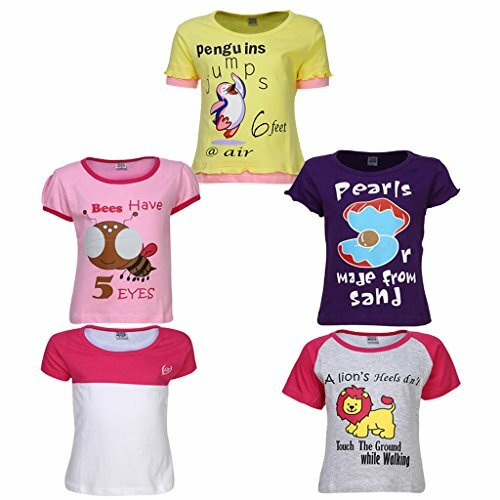 Goodway Girls Did you knowTheme Printed T-shirts Pack of 5